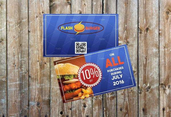 fast food dinner voucher example1