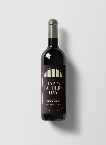 fathers day wine label