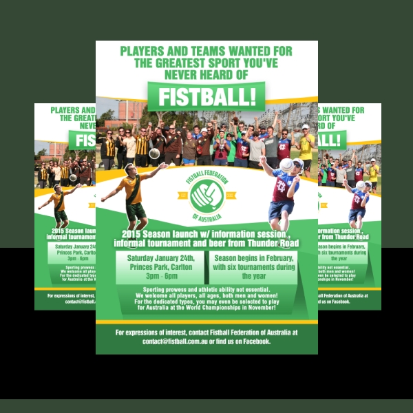 fistball sports flyer design