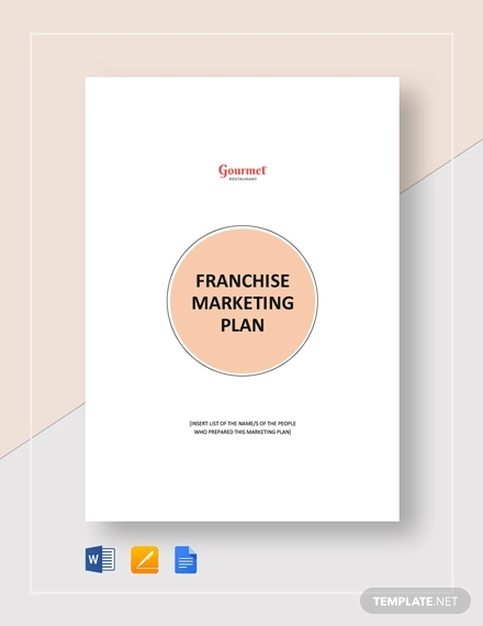 franchise marketing plan template