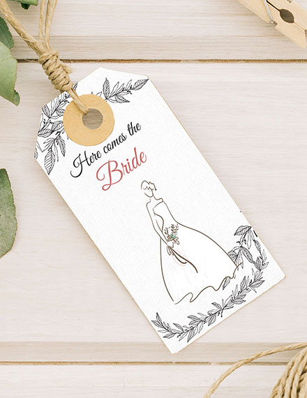 free bridal shower tag template