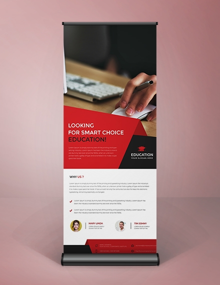 free clean style roll up banner template example