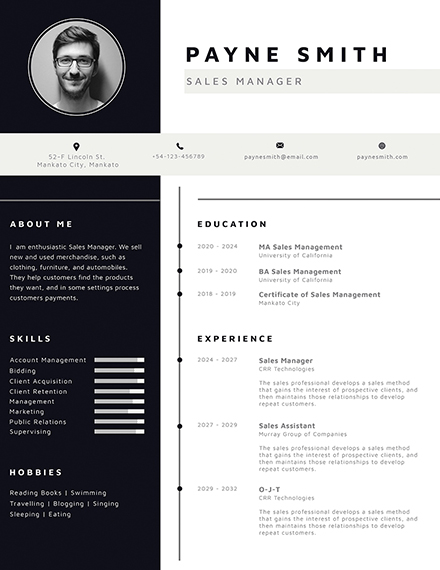 free corporate resume template
