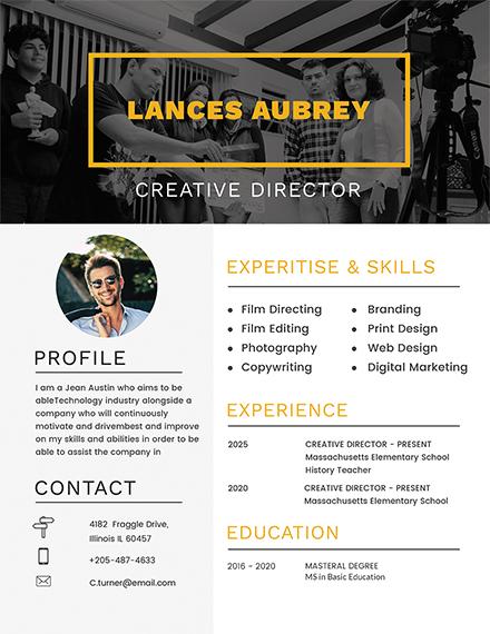 free director resume