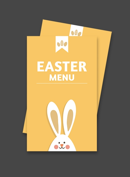Free Easter Menu Card Template