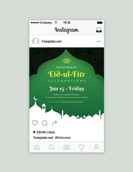 free eid ul fitr instagram design