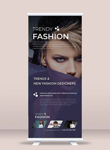 free fashion roll up banner template example