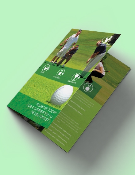 free golf bi fold brochure template example