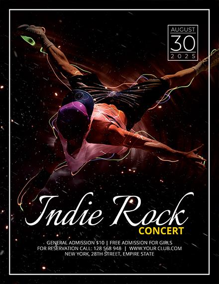 free indie concert flyer