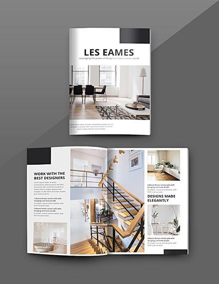 free interior design catalog template