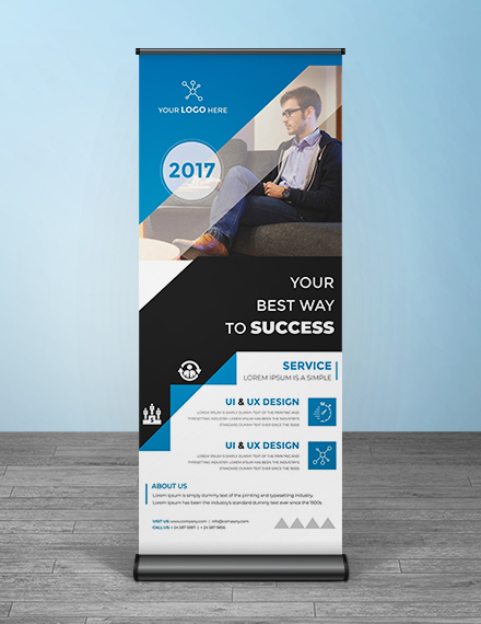 free multipurpose roll up banner template example