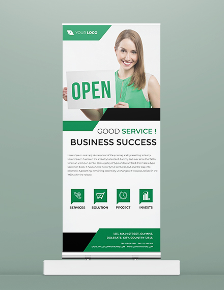 free official roll up banner template example