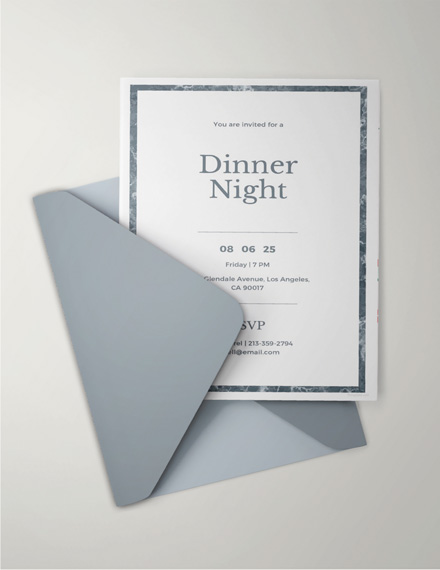 33 Dinner Invitation Examples Psd Ai Word Examples