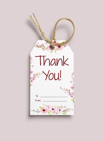 Free Thank You Gift Tag Template