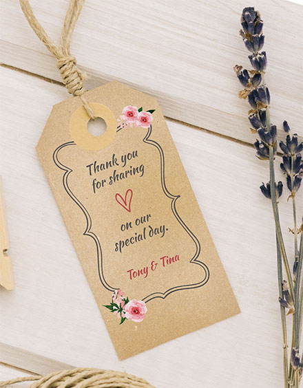 free wedding thank you tag template