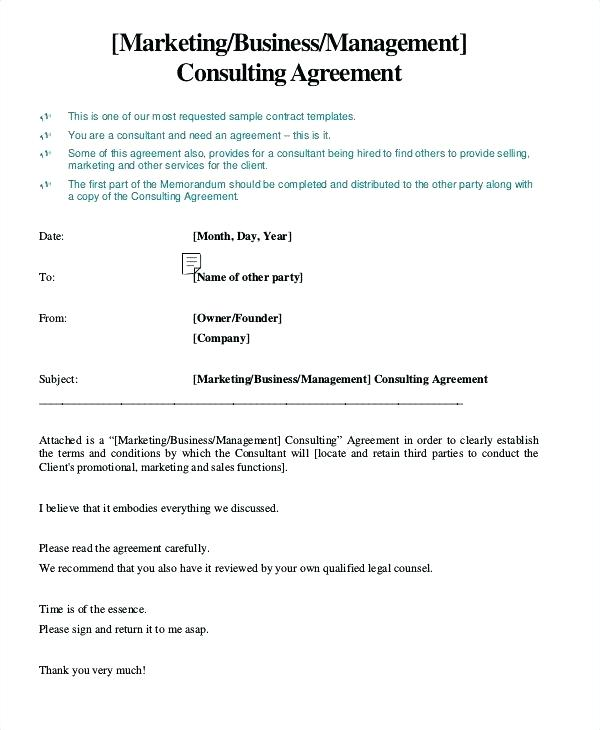 freelance marketing consultant contract template example