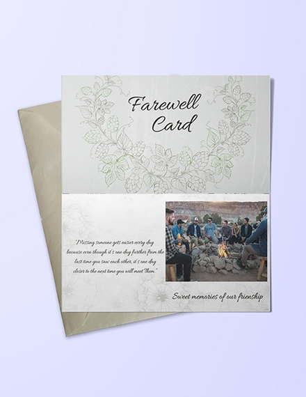 Friendship Farewell Invitation Card