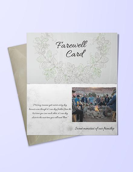 friendship farewell invitation card