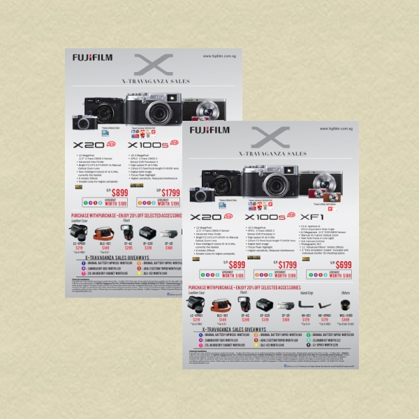 fujifilm x travaganza sales business flyer