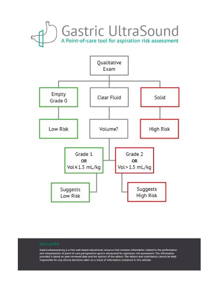 gastric ultrasound flowchart
