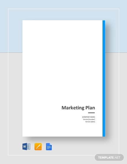 general marketing plan template