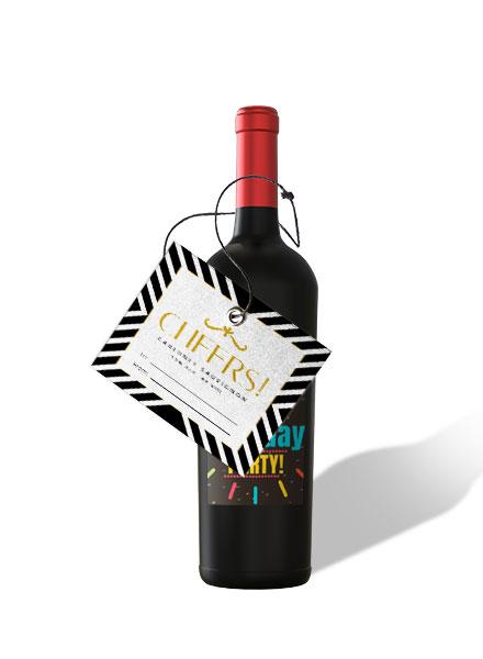 gift wine label design