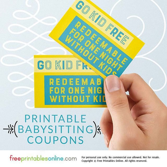 go kid free babysitting coupon template example