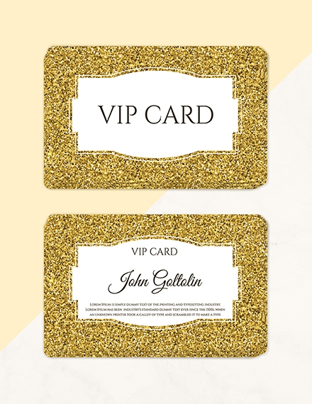 Golden Membership Card Design Template