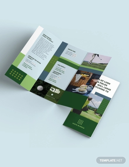 golf course tri fold brochure template