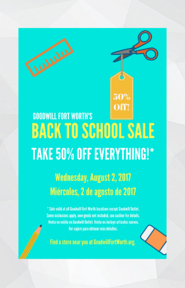 goodwil back to school flyer