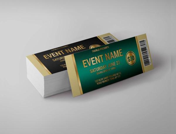 green event cinema ticket example1