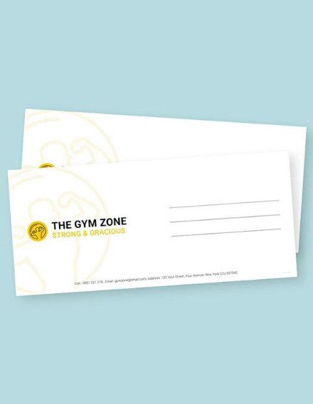 Gym Envelope Sample