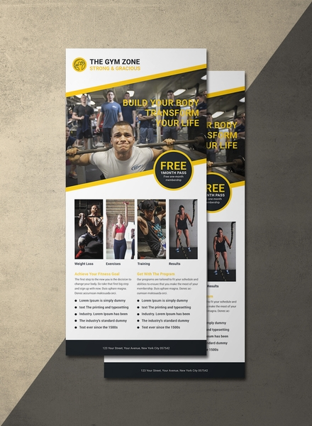 Gym Rack Card Template