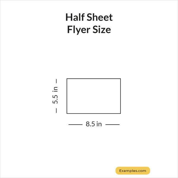 half sheet flyer