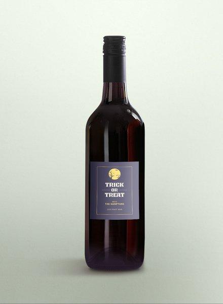 halloween wine bottle label design