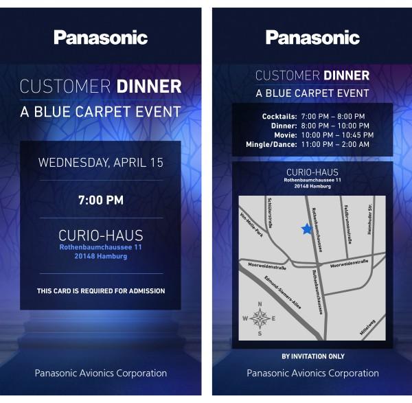 hamburg customer dinner invitation
