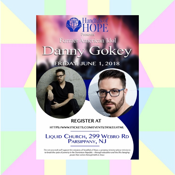 handfuls of hope presents danny gokey concert flyer