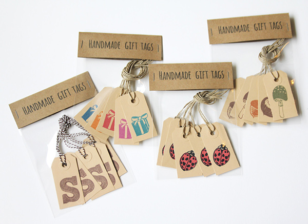 handmade gift tag example