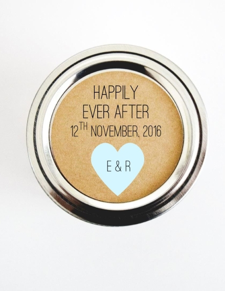 happily ever after wedding label sample