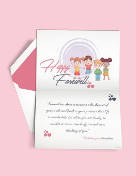 happy farewell invitation card template