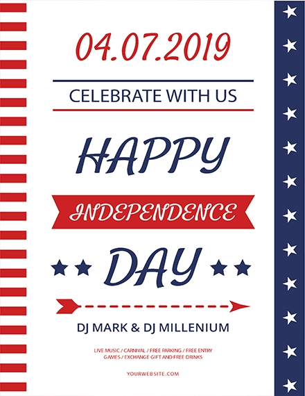 happy independence day flyer template