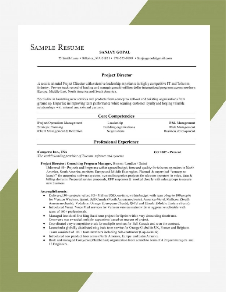harvard university resume example