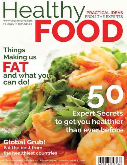 healthy food magazine cover template