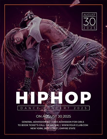 hip hop concert flyer template