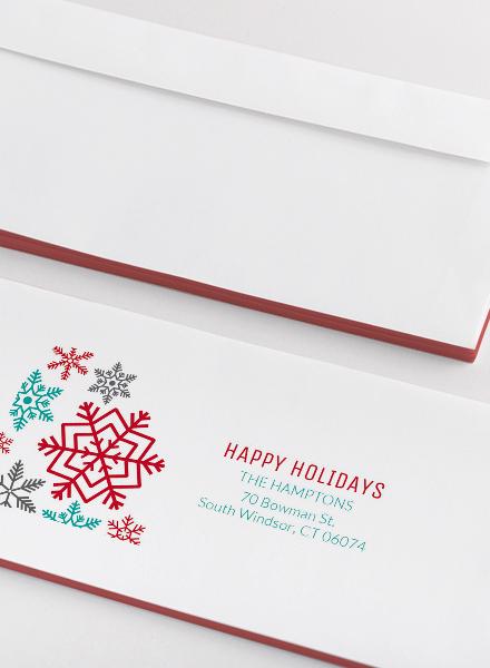 holiday address label