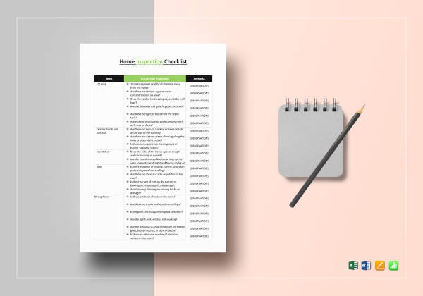 home inspection checklist template