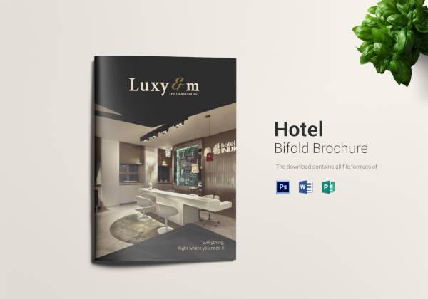 hotel and motel bi fold brochure template