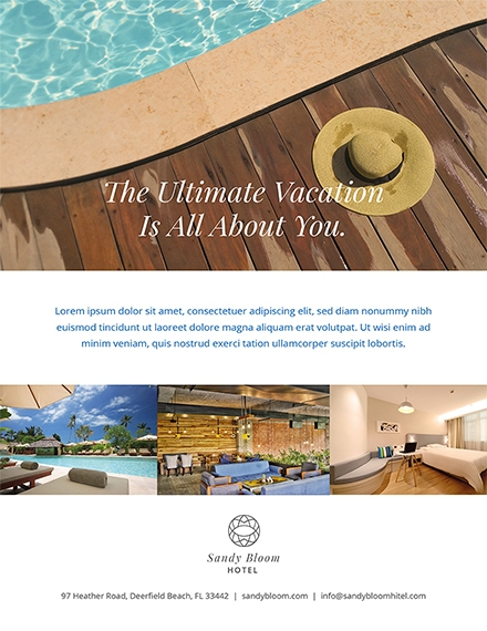 hotel promotional flyer template example