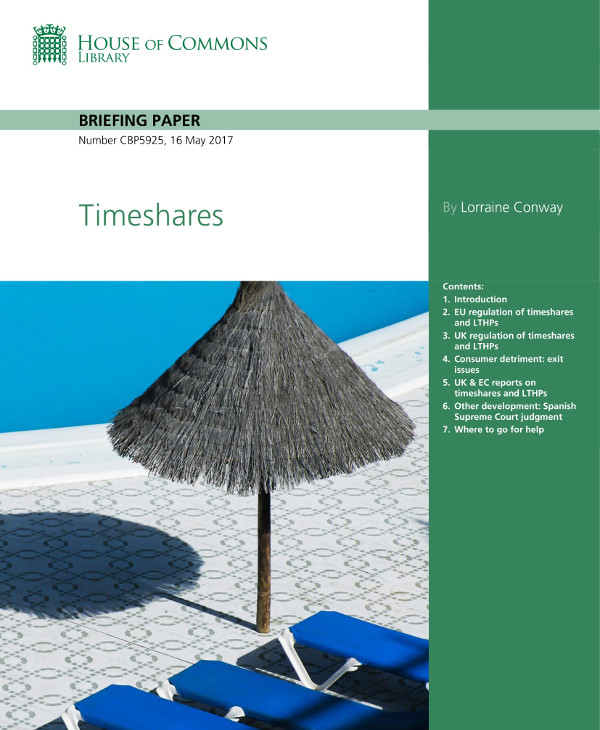 house of commons timeshare example