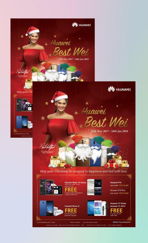 huawei christmas promo flyer